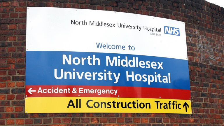 The ICU was 'full' at North Middlesex University Hospital on New Year's Eve