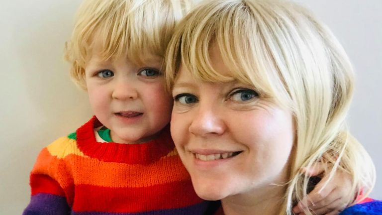 Emily Sheahan-Jones, pictured with her son Wilf, has not been to have the IVF treatment she planned abroad due to the pandemic. Pic: Emily Sheahan-Jones