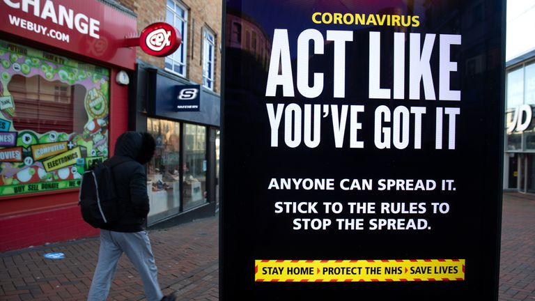 File photo dated 22/01/21 of government coronavirus warning sign