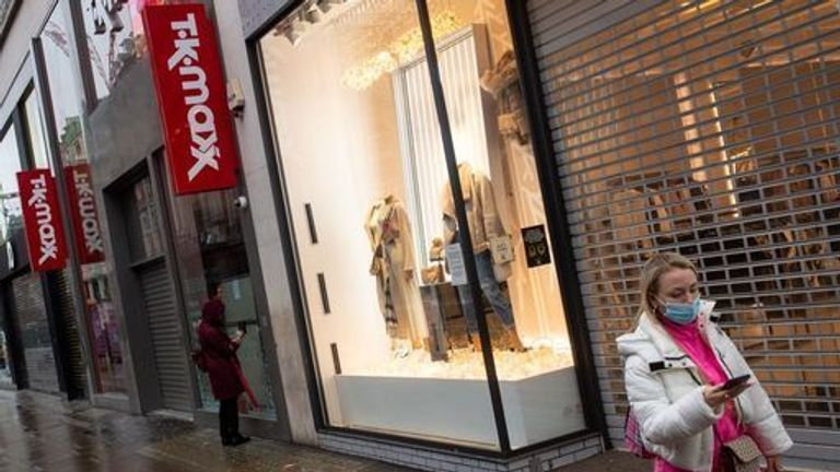 Non-essential stores were closed for large parts of 2020