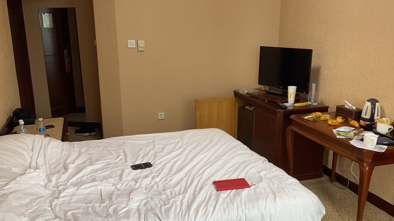 Tom Cheshire piece on his enforced quarantine in a  hotel single room in Dalian, northeast China