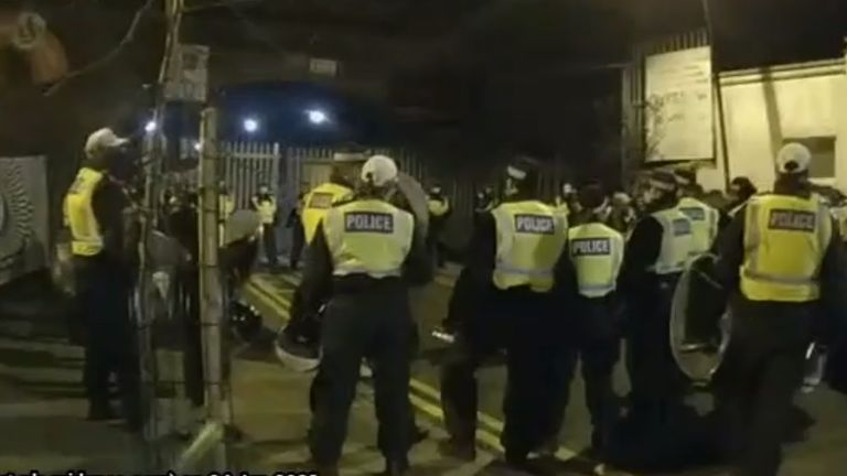 Police raid a rave in Hackney, east London
