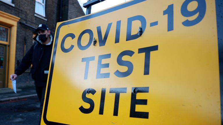 Testing site sign in London