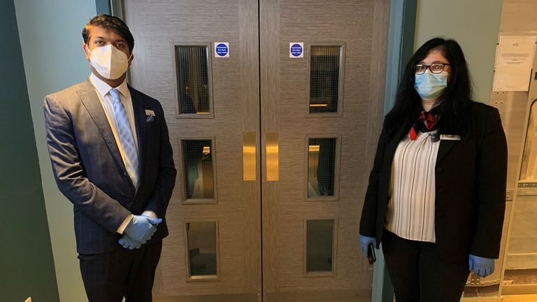 General manager Leo Johnson (left) and housekeeping manager Alina Csoszor (right) are preparing for the new guests