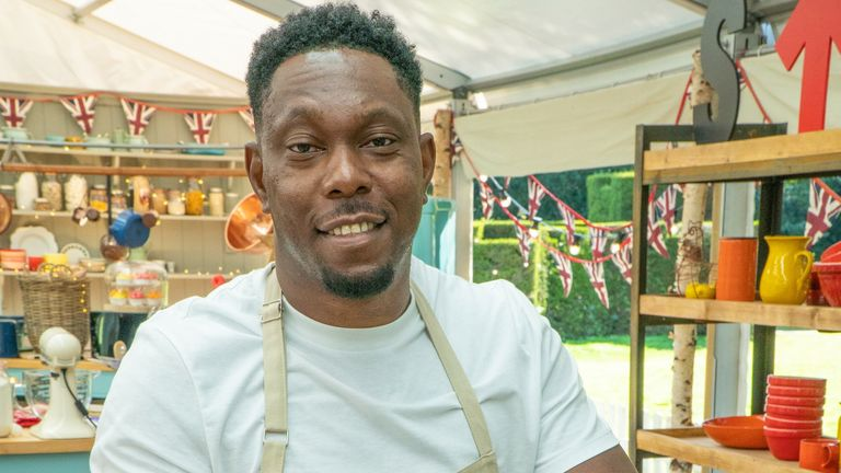 Dizzee Rascal is taking part in The Great Celebrity Bake Off. Pic: Channel 4