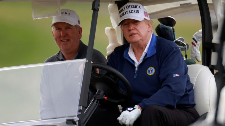 Donald Trump is a keen golfer who has continued to play the sport during his presidency