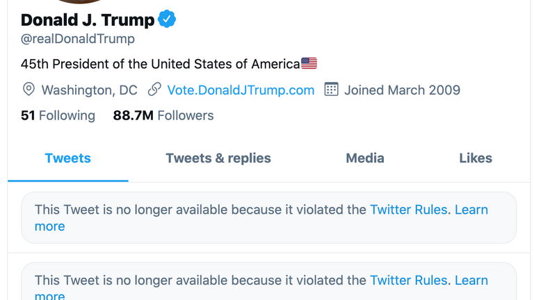 Donald Trump's account was locked for twelve hours