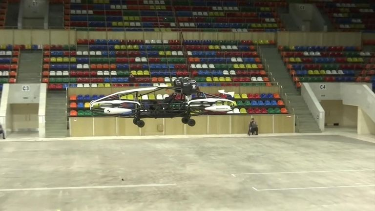 Russia's Hoversurf company presented a newly-developed model of flying taxi meant to go into mass production in 2021.