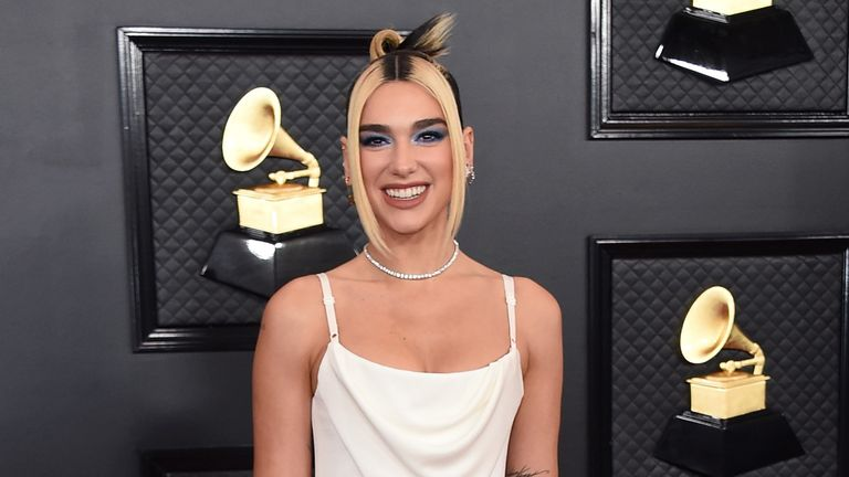 Dua Lipa at the 62nd annual Grammy Awards in Los Angeles in 2020. Pic: Jordan Strauss/Invision/AP