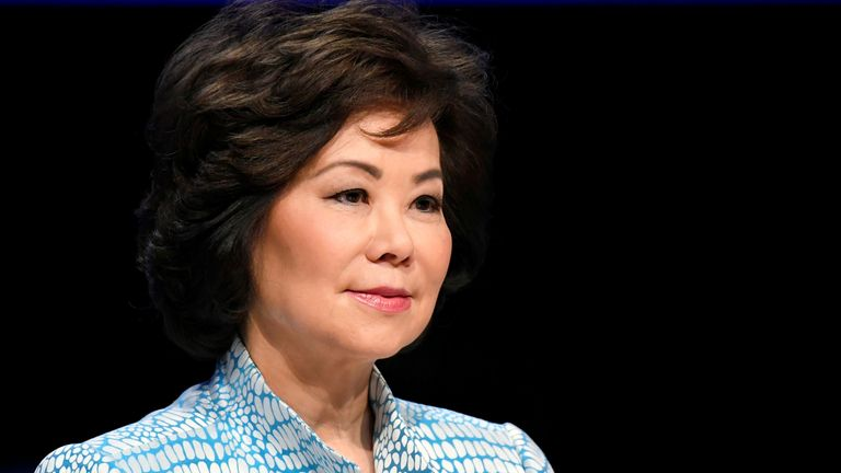 US transportation secretary Elaine Chao