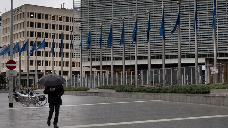 EU headquarters. Pic: AP