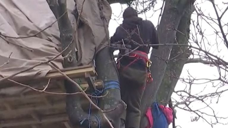 Protesters occupy trees in Euston over HS2