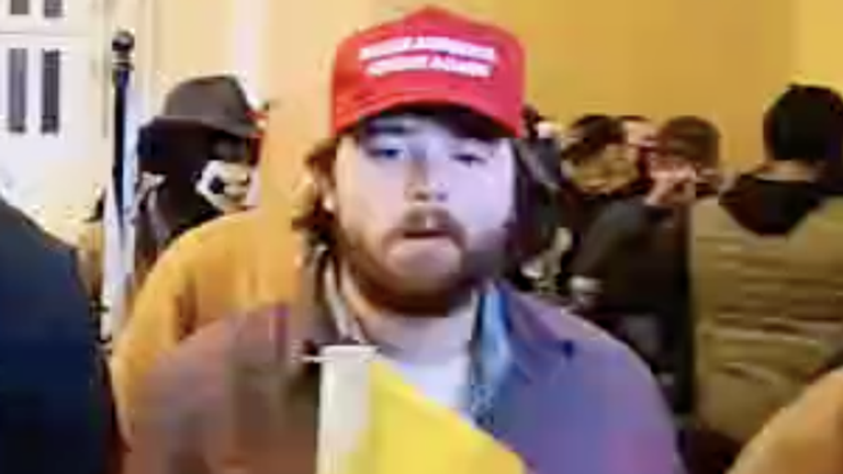There were many rioters wearing 'Make America Great Again' hats