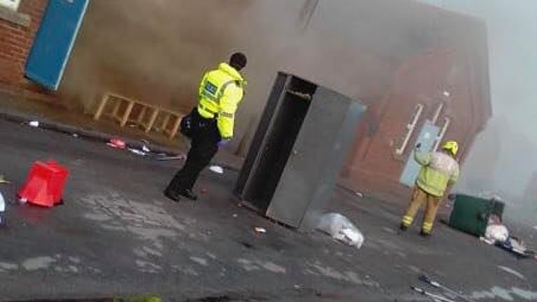 Emergency services descended on the scene after the blaze