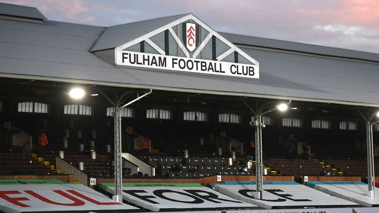 Fulham's Craven Cottage ground. Two of the club's matches have been called off because of COVID cases