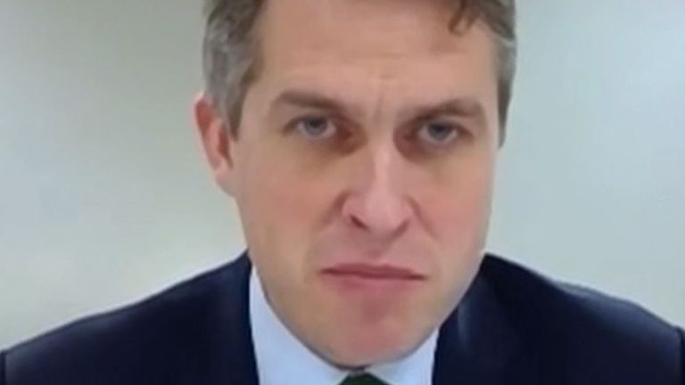 Gavin Williamson is not happy with free meal provision