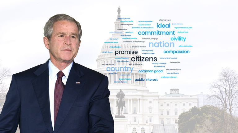 George W Bush called for national unity