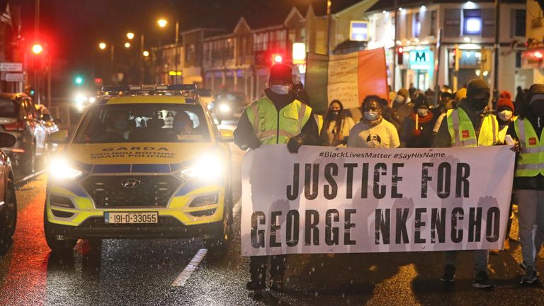 A candlelit vigil was held in Dublin for George Nkencho