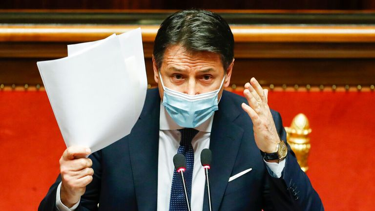 Giuseppe Conte survived two confidence votes but has now lost his majority