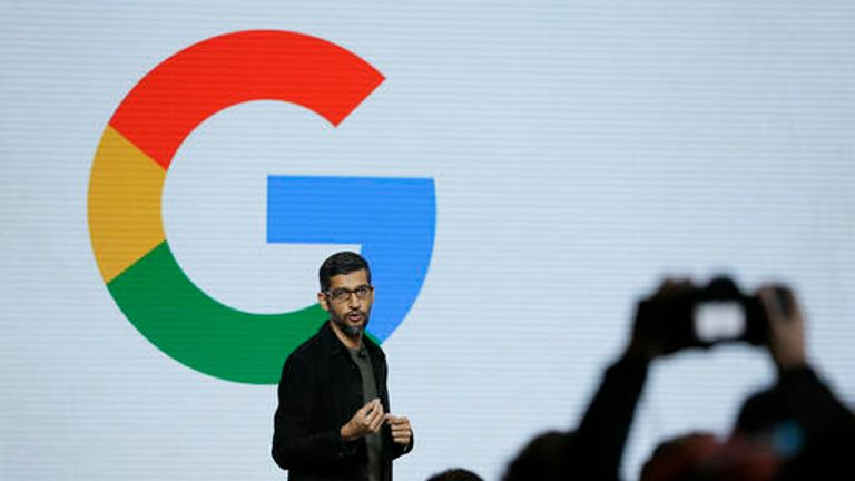 Google CEO Sundar Pichai. Pic: AP