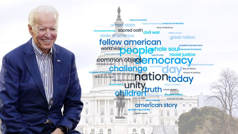 Joe Biden had a message of unity for the US