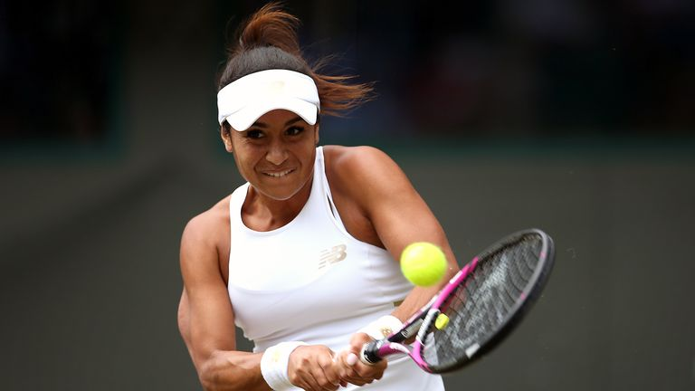 Tennis pro Heather Watson isn't going to let enforced quarantine stop her from training for the grand slam