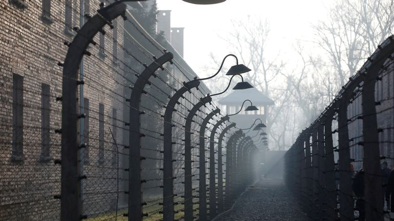 The site of the former Nazi German concentration and extermination camp Auschwitz is pictured during a ceremony marking the 75th anniversary of the liberation of the camp and International Holocaust Victims Remembrance Day, in Oswiecim, Poland, January 27, 2020. REUTERS/Kacper Pempel