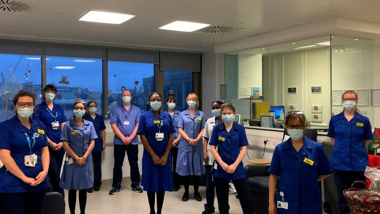 NHS staff contributed to the online ceremony