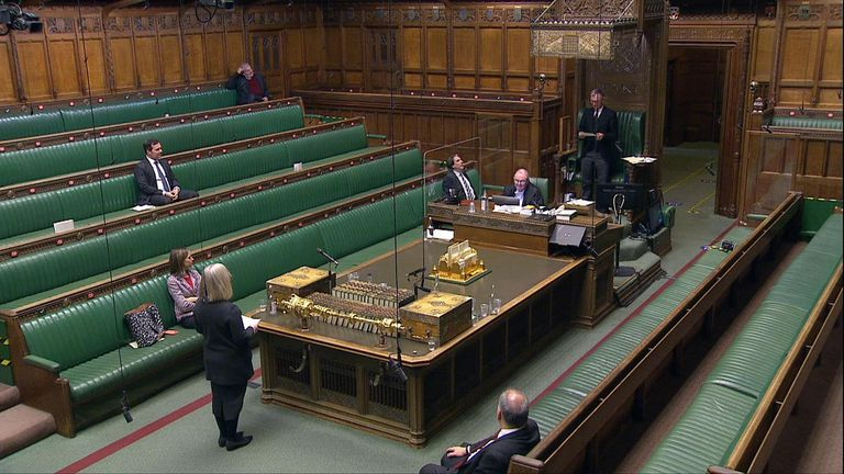 VOTE ON LOCKDOWN RESTRICTIONS IN HOUSE OF COMMONS