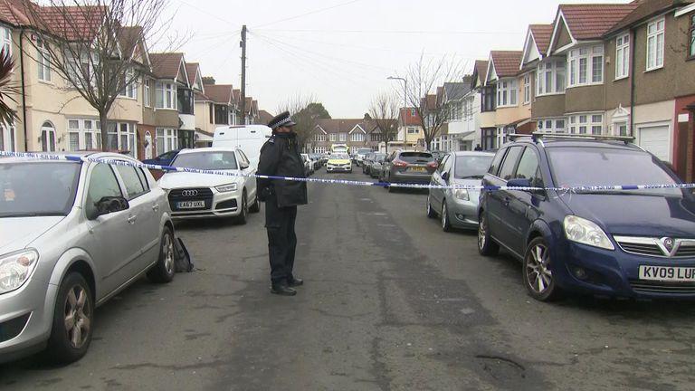 Ilford double murder scene