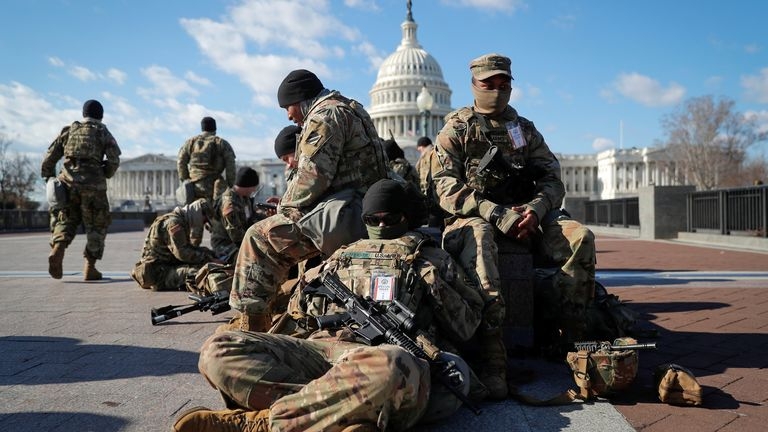 Washington has been flooded with National Guard to protect the ceremony