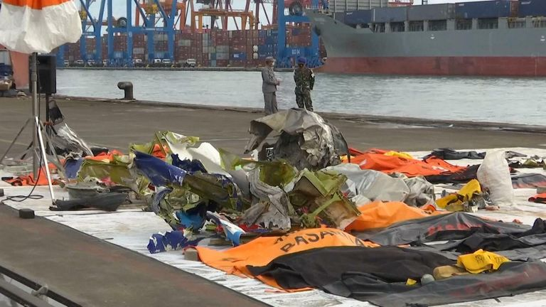 Indonesia plane crash debris