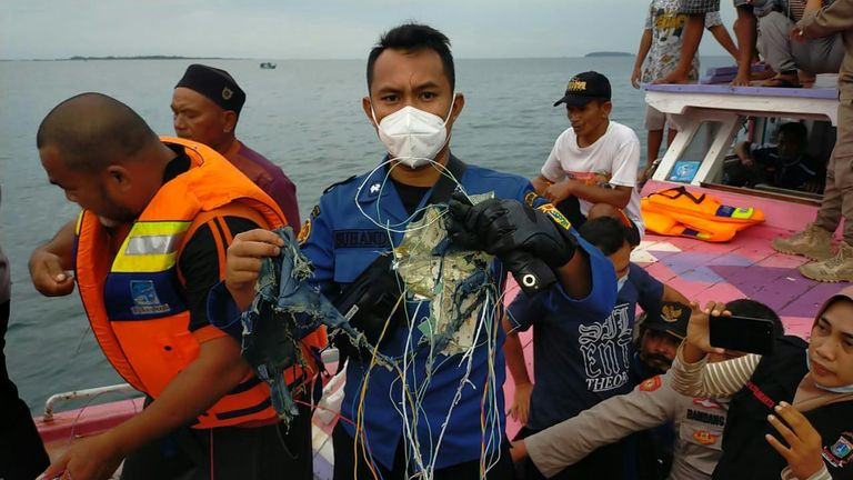 Missing plane search off Jakarta, Indonesia
