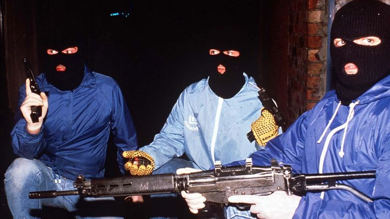 IRA members pictured in 1989