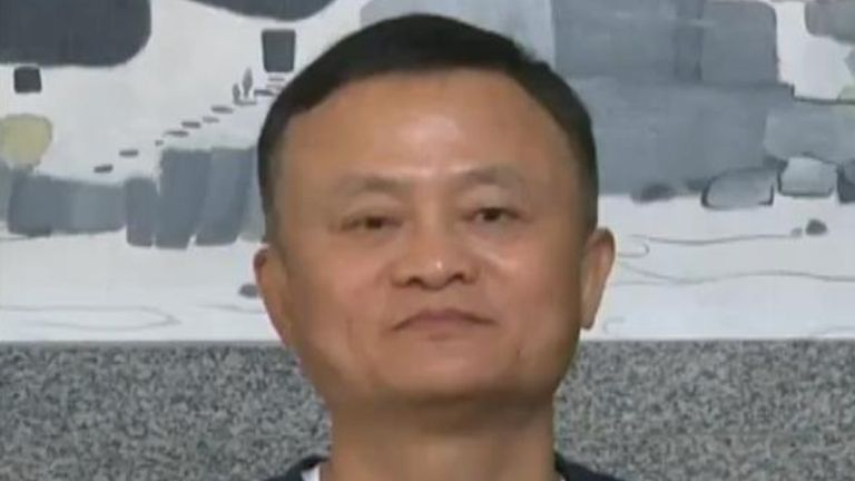 Jack Ma twitter.  He is the cofounder and former executive chairman of Alibaba Group