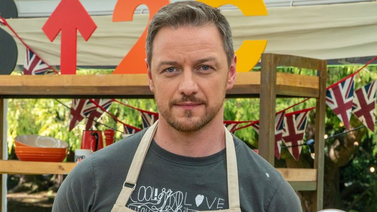 James McAvoy is taking part in The Great Celebrity Bake Off. Pic: Channel 4