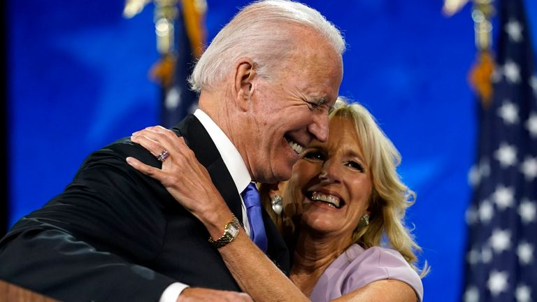 Her husband 'tends to pull me out of my shell, and I help keep him grounded', Jill Biden has said