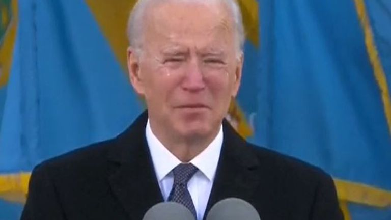 Joe Biden makes emotional speech in Delaware