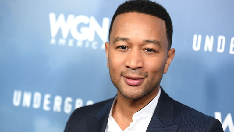"John Legend appears at a photo call for ""Underground"" during the WGN America 2016 Winter TCA on Friday, Jan. 8, 2016, in Pasadena, Calif. (Photo by Richard Shotwell/Invision/AP)"