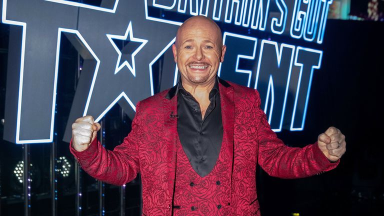 Jon Courtenay celebrates after being crowned the winner of Series 14 of Britain's Got Talent. Pic: Dymond/Thames/Syco/Shutterstock