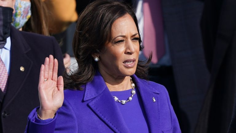 Kamala Harris has been sworn in as US vice president