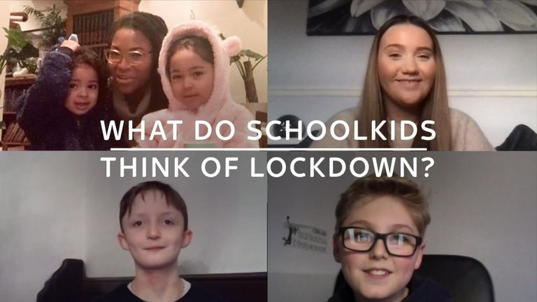 Schoolchildren of different ages tell us what lockdown life is like