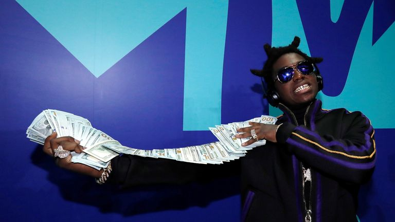 Rapper Kodak Black at 2017 MTV Video Music Awards 2017 MTV Video Music Awards – Arrivals – Inglewood, California, U.S., 27/08/2017 - Rapper Kodak Black. Picture taken August 27, 2017. REUTERS/Mario Anzuoni