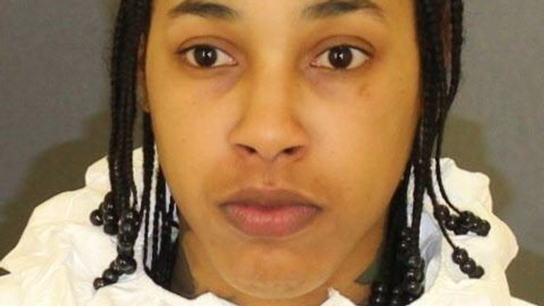 Lakeyria Doughty, 26, was charged with murdering her partner, Tiffany Wilson, 33, in Baltimore. Pic: Facebook/Baltimore City Police