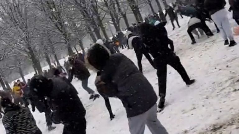 Lockdown-flouting snowball fight was a 'laugh people needed'