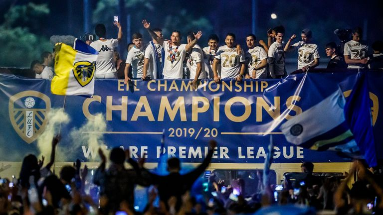 Leeds United secured promotion to the Premier League after winning the Championship last season
