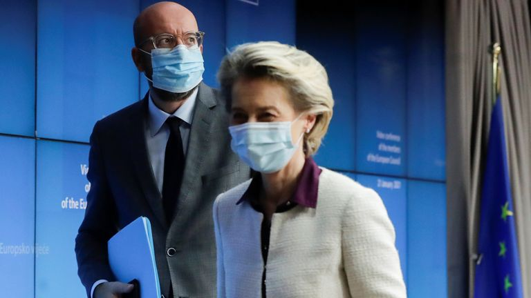 Ursula von der Leyen and Charles Michel have raised the stakes over vaccine shortages