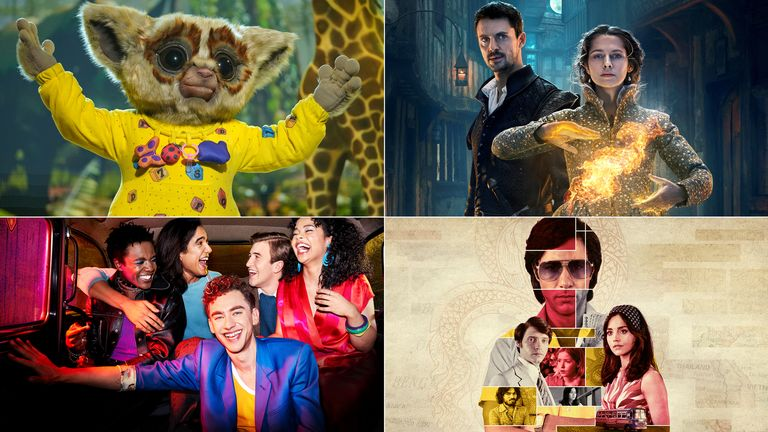 Clockwise from top left: The Masked Singer, A Discovery Of Witches, The Serpent, It's A Sin. Pic: ITV/ Sky UK/ BBC/ Channel 4