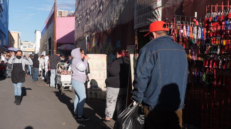 Market in downtown LA