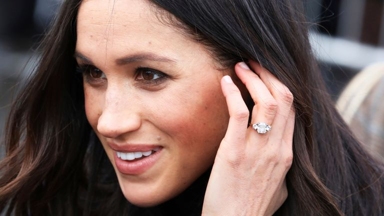 Ms. Meghan Markle arrive at the Esplanade in front of the Edinburgh Castle in Edinburgh, on February 13, 2018, on their first official joint visit to Scotland Photo by: Albert Nieboer/picture-alliance/dpa/AP Images
